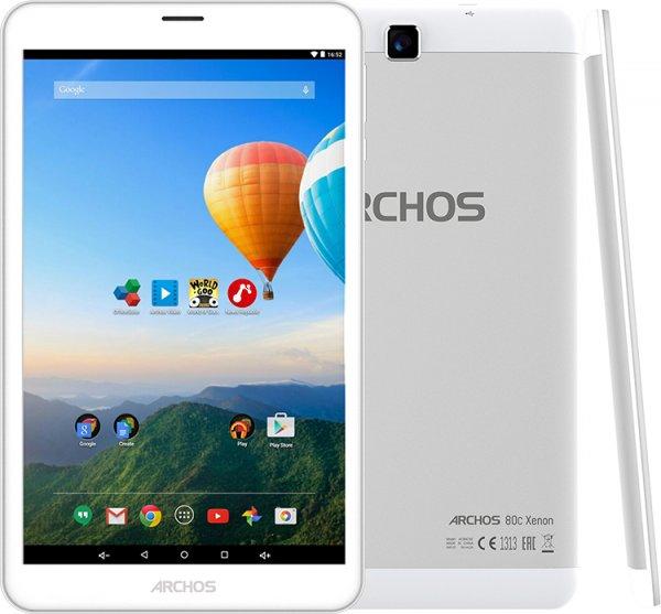 "[Cyberport.de] ARCHOS 80c Xenon Tablet 3G Dual-SIM 16 GB, 8"" 1280 x 800 IPS, Android 5.0, weiß, Aluminiumbody, VSK-frei, 89 €"