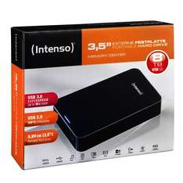 [Ebay] Intenso Memory Center 8TB schwarz externe Festplatte USB 3.0 HDD 3,5 Zoll 8000GB für 211,-€ ab ca.8.00 Uhr **Update**Preis angepasst