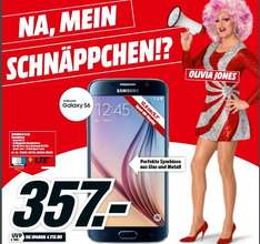 "[Lokal Mediamärkte Hamburg] Samsung Galaxy S6 G920F ""Alle Farben"" 32GB [12,?95cm (5.1"") QuadHD Super AMOLED Dis­play, 2.1 Ghz Oct­a­Co­re-CPU, 16MP Ka­me­ra] für 357,-€ Bestpreis"