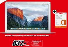 "[Lokal Mediamärkte Hamburg] Apple MacBook Air 13"" 2015 MJ­VE2D/?A 1.?6GHz, 4GB Ram,128GB SSD,OS X inc. 1 Jahr Office 365 Personal Abo für 837,-€"