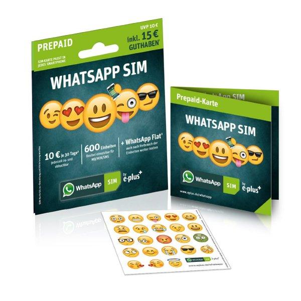 (Amazon) Whats App Sim 2,99€ mit 15€ Guthaben