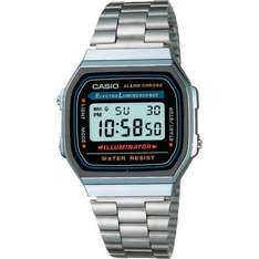 Casio Collection A168WA-1YES Herrenuhr Silber 18,29 inkl. Versand