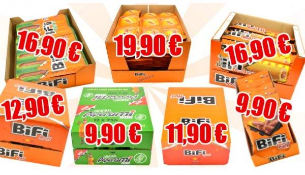[Mapalu] Verschiedene Bifi Kartons, wie Carazza, Bifi Roll XXL, Hot, Peperoni etc. ab 8,91€ + VSK
