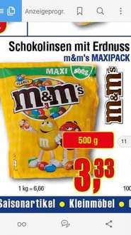 m&m's 1/2 Kilo für 3,33€ [Center Shop ab 4.4.]