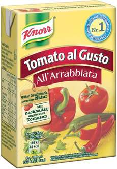 [Amazon Prime, -27%] Knorr Tomato al Gusto All'Arrabbiata, 8er Pack (8 x 370 g)