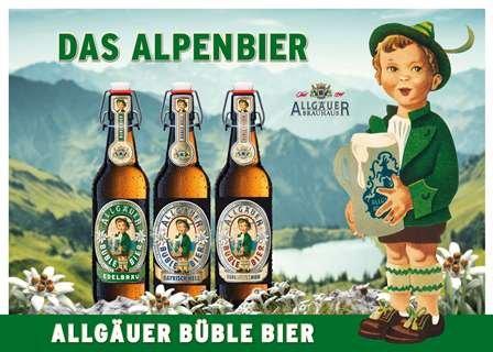 [Lokal Trinkgut Arnsberg-Neheim] Allgäuer Büble Edelweissbier 4x0,5 Liter für 49 Cent (MHD 31.03.16)