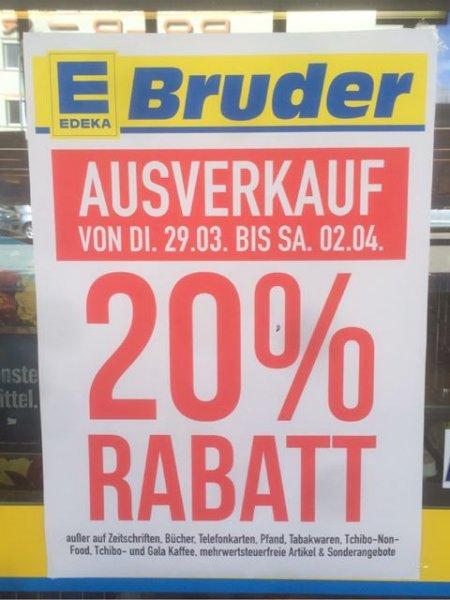 [Lokal] 20% auf fast alles, Edeka Bruder Furtwangen