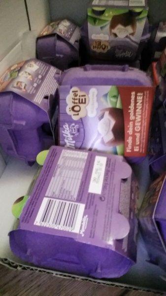 Löffel Eier von Milka für 99ct bei netto md