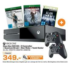 [Saturn] XBox One (500GB) + 2. Controller + Quantum Break (DL) + Rise of the Tomb Raider (Disc) + Alan Wake (DL) für 349,-€