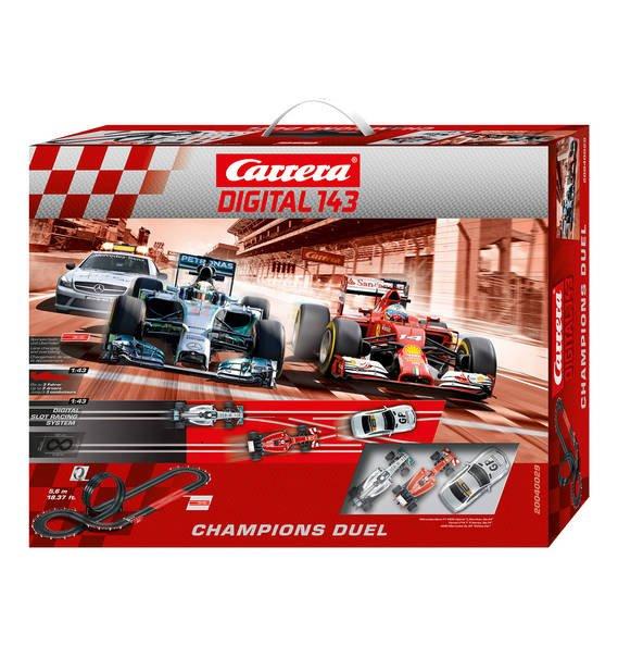 *Wieder verfügbar* Carrera Digital 143 Rennbahn Champions Duell /Mit 10% Newsletter Gutschein für 71.99€ möglich