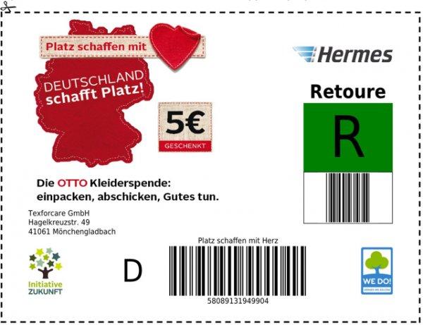 Otto 5€ Gutschein gegen Kleiderspende. MBW 5€ / Gutes tun und sparen !!