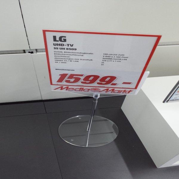 [Lokal ] [Media Markt Berlin Neukölln ] [ LG TV Neues Model 2016] LG 55UH8509 Super UHD TV (Flat, 55 Zoll, UHD 4K, 3D, SMART TV, webOS)