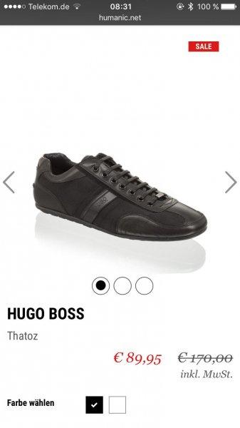 """HUGO BOSS Schuh """"Thatoz"""" für 84,95€ + 9% qipu (Gutschein+Sale) idealo: 169,95€"""