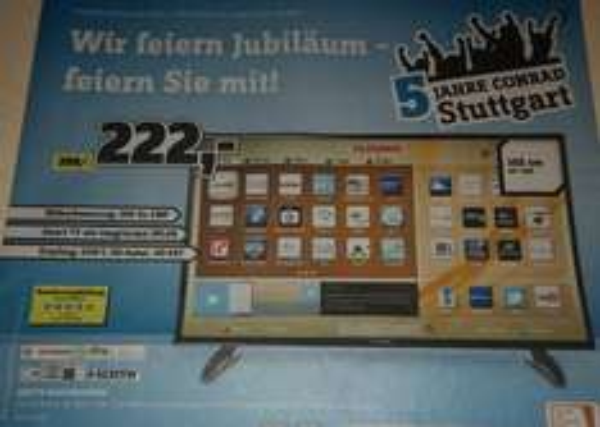 "[Conrad Stuttgart] 40"" LED-TV D40F287A3CW // 1920 x 1080 // 222€"
