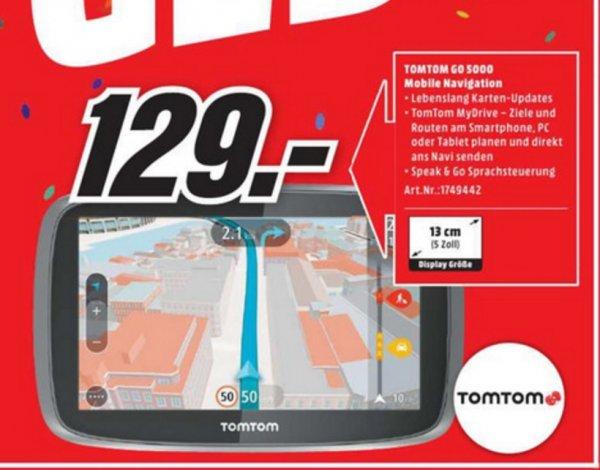 (Lokal) Tom Tom Go 5000 Traffic über Sim 45 Länder, 5 Zoll (MM Velbert)