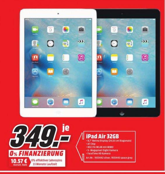 (Lokal) Apple iPad Air WiFi 32GB für 349€ @ Mediamarkt Koblenz & Neuwied
