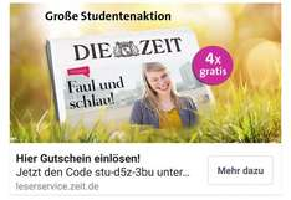 Die Zeit 4x gratis (Wert 18€)