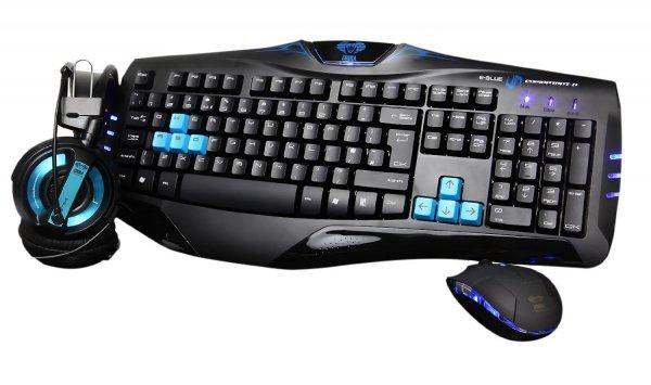 [Redcoon] E-Blue Cobra Combo Set (Tastatur-Headset-Maus-Set, 3 Tasten, USB) für 36,99 Euro inkl. Versand