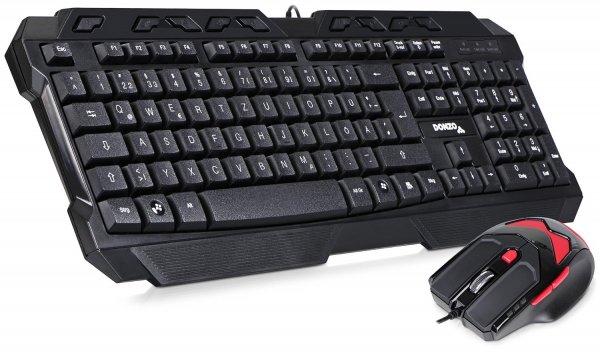 [Amazon-Prime] DONZO SI-8059 Gaming Tastatur (deutsches Tastaturlayout, QWERTZ) mit Gaming Maus (schnurgebunden, USB) schwarz für 17,47 Euro inkl. Versand