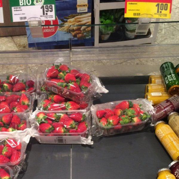 [Lokal REWE City Neu-Isenburg (Ffm) Evtl Bundesweit?] Erdbeeren 500g für 1€