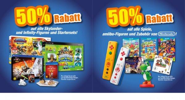 [Lokal FLÖSCH] 50% Rabatt auf ALLE Nintendo Spiele und Zubehör