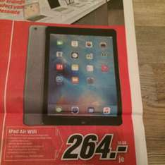 IPad Air WiFi 16 GB für 264,-- € bei Media Markt Erding