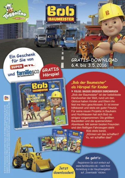 Hörspiel Bob der Baumeister - Baggis großer Durchbruch - gratis ab 6.4.