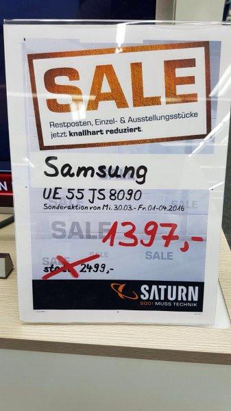 Samsund SUHD-TV UE 55 JS 8090 Nur 1397€