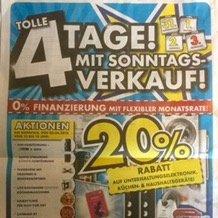 4 Tage 20% Rabatt bei EuronicsXXL in Sindelfingen (Lokal)