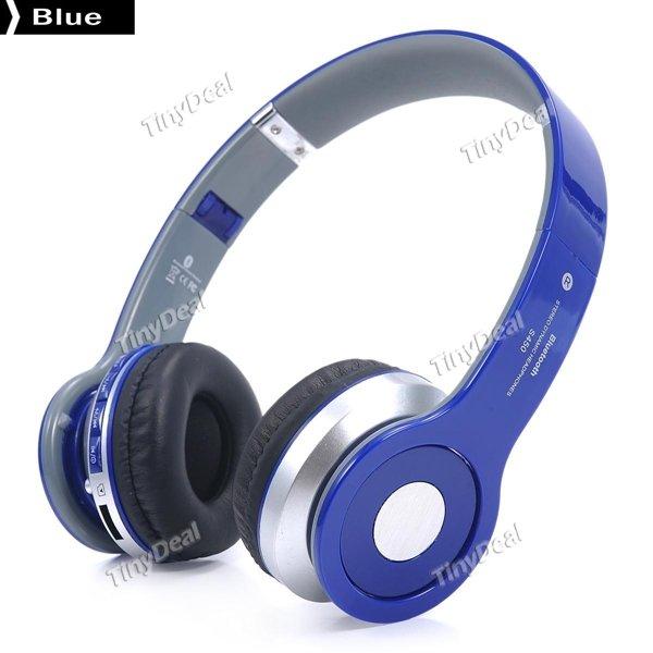 [ Tinydeal ] S450 3.5mm Foldable Hands-free Headphone Bluetooth V2.1 Headphone mit TF Slot FM und iPhone Smartphone für 9,71€ anstatt 18€