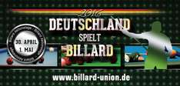 """[Offline] """"Deutschland spielt Billard"""" - kostenlos Billard/Snooker spielen am 30.04. und 01.05."""