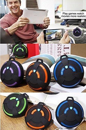 LOOKit Bluetooth Lautsprecher - 4 Farben (Orange) - Spritzwassergeschützt Ultra-Tragbarer Bluetooth 3.0 Lautsprecher Outdoors mit bis zu 6 Std, eingebautes Mikrofon, IPX4 Wasserdicht Standard, Spielzeit Freisprecheinrichtung Kompatibel mit Apple iOS