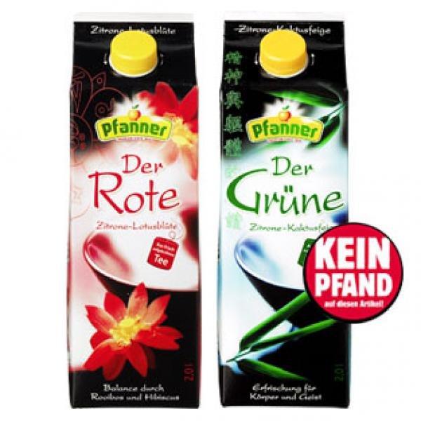 [REWE] Pfanner Eistee im 2,0 Liter Tetra Pack für 1 Euro