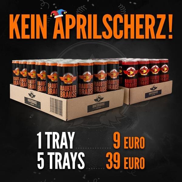 24 Dosen Energydrink Raubtierbrause für 9€ oder 120 Dosen für 39€