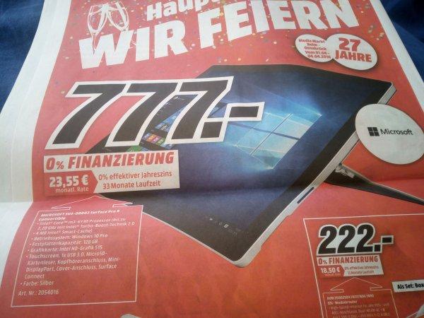 [Lokal Mediamarkt Osnabrück ] MICROSOFT Surface Pro 4,  M3-Version