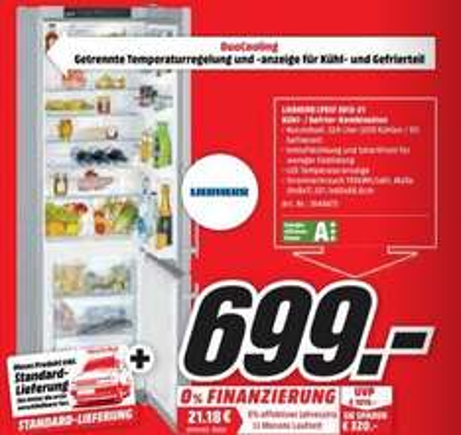 Media Markt Homburg & Pirmasens Liebherr CPESF 3813-21 Kühl- Gefrierkombination