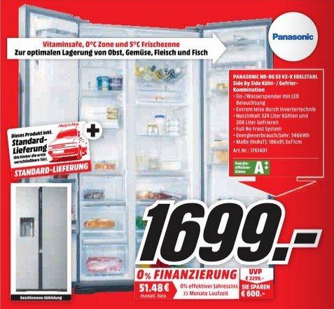 Media Markt Homburg & Pirmasens Panasonic NR-BG 53 V2-X Edelstahl Kühl- Gefrierkombination