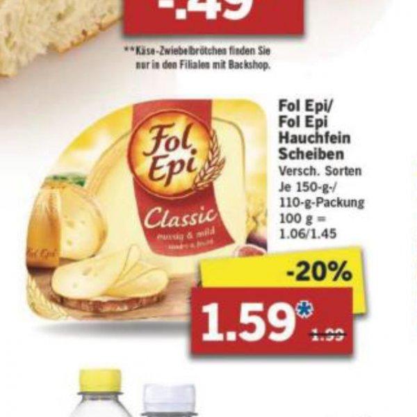 [LIDL+Scondoo] Käse Fol Epi Hauchfein Scheiben ab Montag 04.04