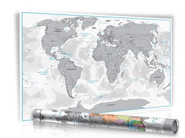 [Amazon.de] XXL Design Rubbel Weltkarte für EUR 6,99 + EUR 2,98 Versand