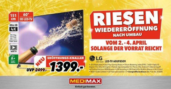 [Medimax Bochum] [Lokal] LG 60UF8509 für 1399€