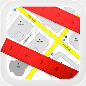 [iOS] Planimeter Pro zum Messen von Strecken und Flächen auf der Karte kostenlos statt 2,99 €