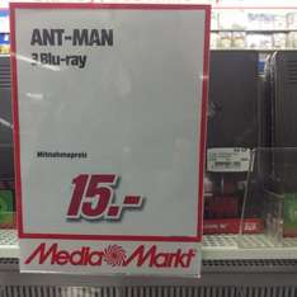 [Köln Lokal] Ant-Man Blu-ray Steelbook (inkl. 3D) - Media Markt Köln City am Dom