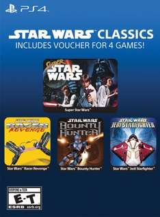 [PS4-US] Star Wars Classics (u.a. Super Star Wars, Star Wars Bounty Hunter) 4 Spiele = 4,90€ @ G2A