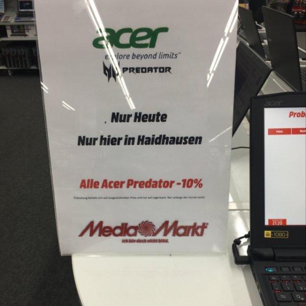 [Media Markt München Haidhausen] 10% auf alle Acer Predator Notebooks/Desktops