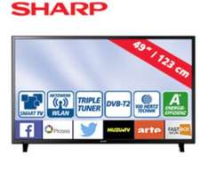 "Real NUR am MONTAG Sharp 49""/123cm  FullHD-LED-TV LC-49CFF6002E idealo 489€"