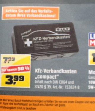 [OBI] Mal wieder: Kfz- Verbandkasten für 3,99€ statt 7,99