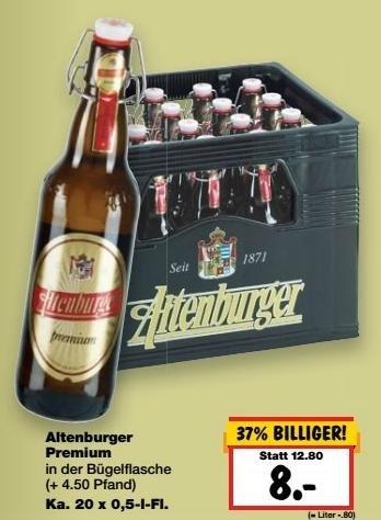 [Kaufland - Lokal Leipzig] 20x 0,5l Altenburger Premium Pils für 8€ statt 12,80€ zzgl. Pfand
