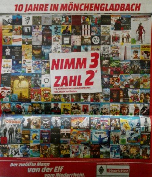 "[Lokal MG] ""Nimm 3 zahl 2"" Aktion bei MediaMarkt"