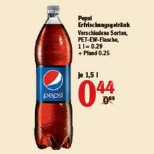 [GLOBUS] Pepsi / Schwip Schwap / 7Up / Mirinda + light 1,5l für 0,44€