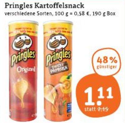 [TEGUT] Pringles verschiedene Sorten 190g für 1,11€